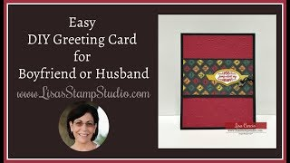 Easy DIY Greeting Card for Boyfriend or Husband