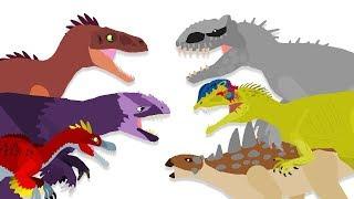 Utahraptor | DinoMania - Dinosaurs cartoons battles - animated movies 2018