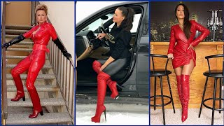ultra-modern modish and ,fashionable leather knee high boots and heels idea's for  ladies
