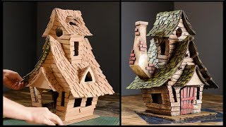 ❣DIY Witch House Using Cardboard❣