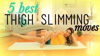 5 Best THIGH SLIMMING Exercises by blogilates