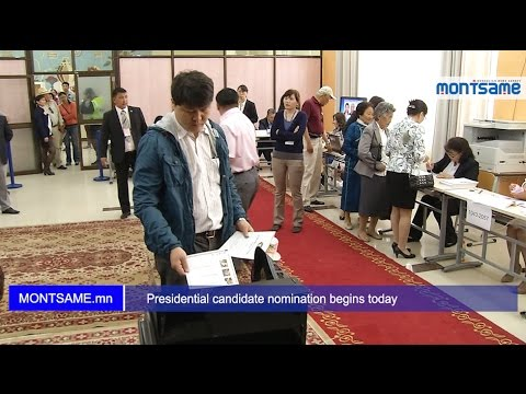 Presidential candidate nomination begins today