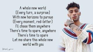 ZAYN, Zhavia Ward - A Whole New World (Lyrics) 🎵