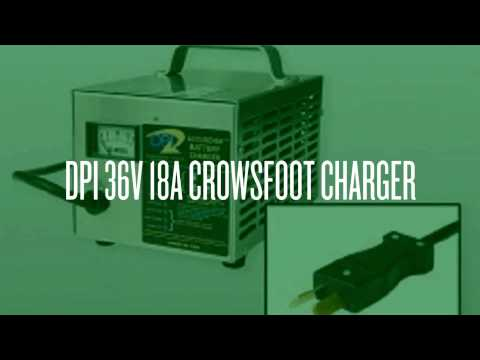 DPI 36V Golf Cart Charger With Crowsfoot Connector 18 Amps