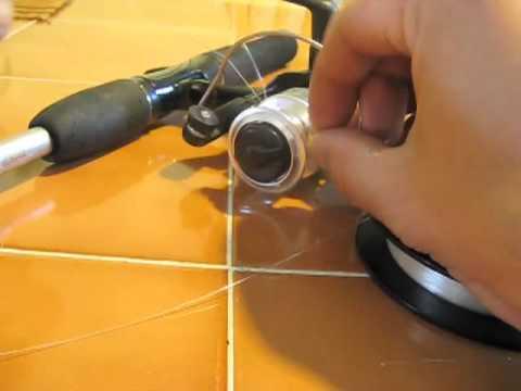comment monter nylon moulinet