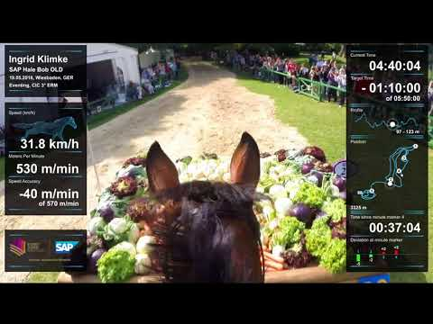 Ingrid Klimke & SAP Hale Bob OLD Cross Country Head Cam Wiesbaden 2018