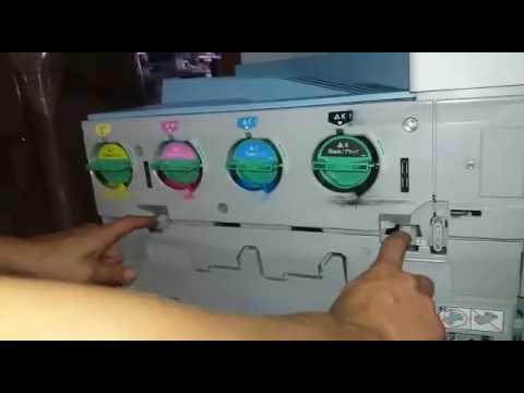 Troca da unidade de cilindro mpc2050 e mpc2051