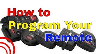 2002 to 2009 Pontiac Vibe Factory Remote Transmitter Programming How To
