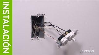 Leviton: Instalación: Interruptor de Combinación 5225, 5625, 5636 y T5625