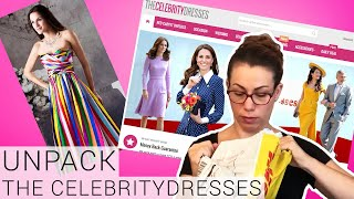 UNBOXING & TRY ON THECELEBRITYDRESSES - Review Of My New Concert Dress / Prom Dress Custom Size