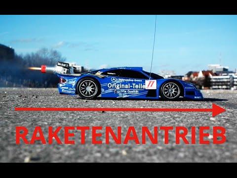 Ferngesteuertes Auto mit Raketenantrieb
