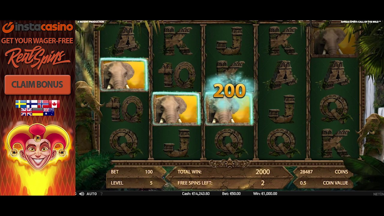 InstaCasino - Jungle Spirit: Call of the Wild Review - Mega Win NetEnt