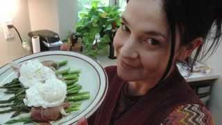 Prosciutto Wrapped Asparagus & Poached Eggs