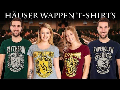 Harry Potter: Hogwarts-Häuser Wappen-T-Shirts