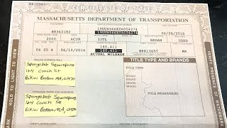 How to Fill Out a MA Title When Buying or Selling a Vehicle