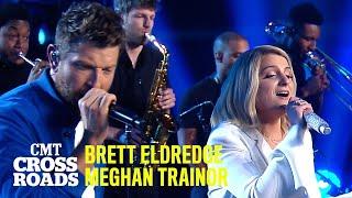 Brett Eldredge & Meghan Trainor Perform 'Islands In the Stream'   CMT Crossroads