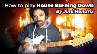 How to play House Burning Down by Jimi Hendrix (intro)