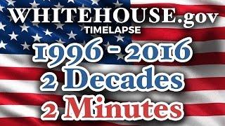 Whitehouse.gov 1996-2016 TIME LAPSE: 2 decades in 2 minutes