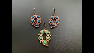 Leafy Leaf Earrings 🍂    DIY Beaded Earrings    How To Make Beaded Earrings