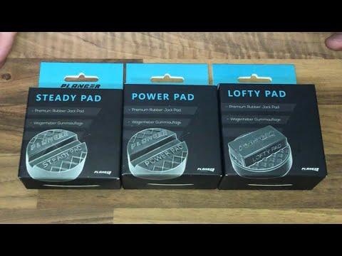 PLANGER Power Pad, Lofty Pad und Steady Pad Gummiauflage Rangierwagenheber unboxing und Anleitung