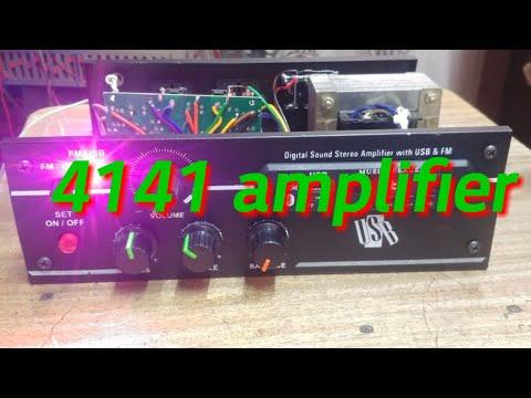 Stk 4141 stereo amplifier (low budget) - смотреть онлайн на
