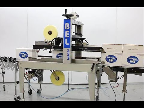 BEL 252 - Top and Bottom Sealer. Fully Automatic Belcor Case Sealer - BEL-252, Fully Automatic