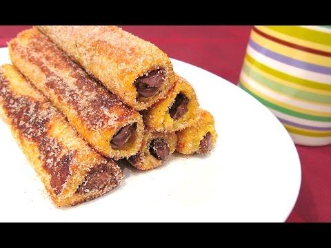 Rollitos de Nutella y Canela   Nutella French Toast Rolls