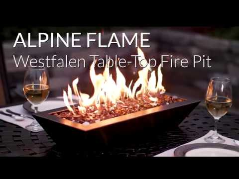 Alpine Flame Westfalen Table-Top Fire Pit - Oil Rubbed Bronze