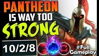 PANTHEON IS WAY TOO STRONG | New Runes Pantheon Vs Yorick TOP | LoL   SEASON 8 Full Gameplay