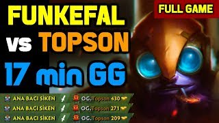 OMG! Topson got totally destroyed mid by Best Tinker Funkefal ft. PPD, JerAx, 633