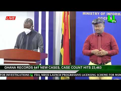 Ghana Records 641 New Cases, Case Count Hits 23,463
