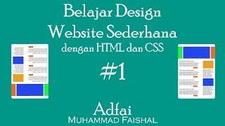 Gambar cover Belajar design Website sederhana dengan HTML dan CSS #1