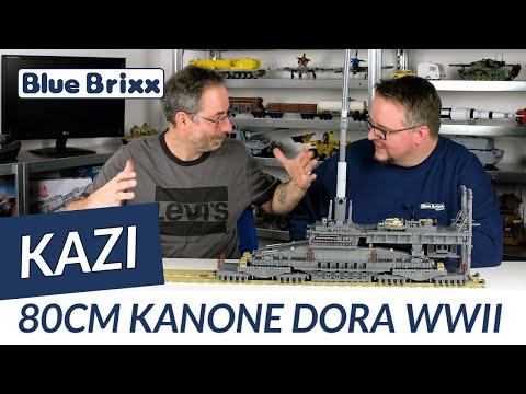 """Deutsches 80cm Eisenbahngeschütz """"Dora"""" 3in1 WWII (Ohne Figuren)"""