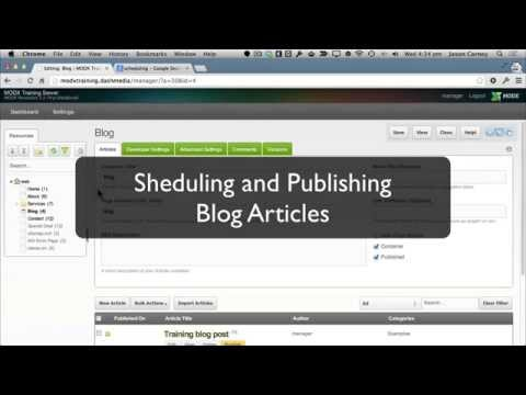 Scheduling and Publishing Blog Articles