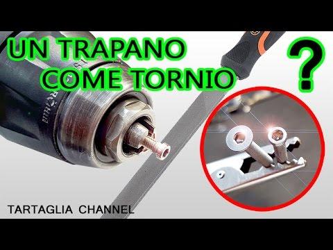 Come trasformare un trapano in un tornio? taglio, fresatura e lucidatura - tartaglia channel