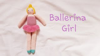 How To Knit Doll-Ballerina Girl
