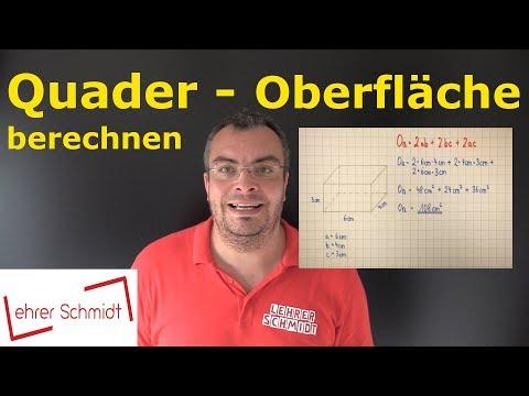 Cover: Quader - Oberfläche berechnen   Mathematik - einfach erklärt   Lehrerschmidt - YouTube