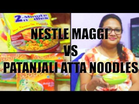 , title : 'Nestle Maggi Noodles Vs Patanjali Atta Noodles |Baba Ramdev Noodles |LIVE TEST'