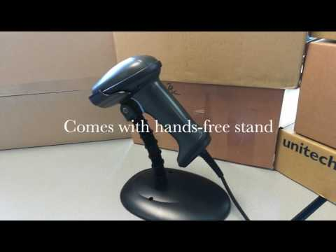 Unitech MS836 Handheld 1D Barcode Scanner video thumbnail