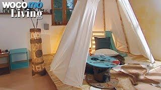 Tipi-Zelt fürs Wohnzimmer bauen - Tapetenwechsel (BR) | Staffel 9 - Folge 5