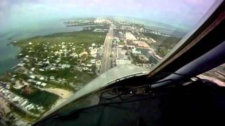 Flight into Florida Marathon Keys Airport