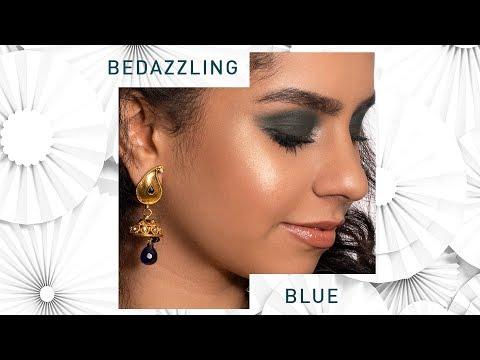 Navratri Makeup | Royal Blue Makeup | Royal Blue Makeup for Navratri | MyGlamm