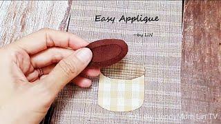 Easy Applique / Little Cactus plant  癒しのサボテン刺繍