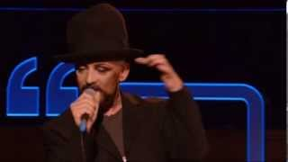 Boy George Bigger Than War Talks Music 2013