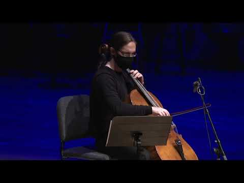 """Kyle Pearl performing my solo cello work """"Pearl"""" at the Maurice Gusman Recital Hall."""