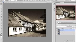 Добавляем в фотошопе эффект старой фотографии