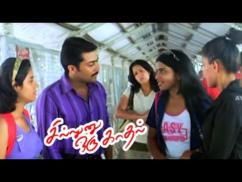 Sillunu Oru Kadhal | Full Movie Scenes | Suriya Attracts a Girl | Suriya, Jyothika Cute Romance