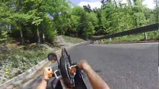 preview picture of video 'Handbike Mountain Training (Wisla, Poland)'