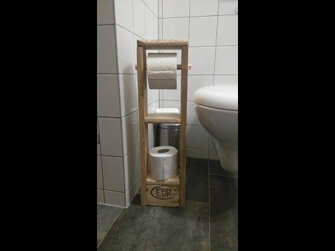 Toilettenpapierhalter/ Klopapierhalter  aus Europalette selber machen
