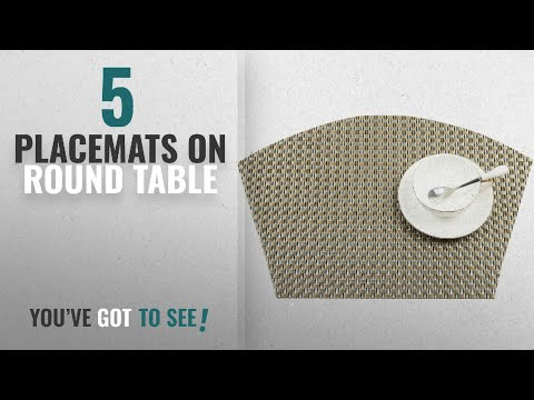 Best Placemats On Round Table [2018]: SHACOS Round Table Placemats 70% PVC 30%Polyester Heat